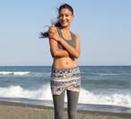 Pema Yoga Tanitar Yoga Skirt  Blue タニタルヨガショートスカート