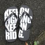 KEEP ON サンダル クロ(受注生産)