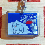 フランス  MADISON[マディソン]北極 白くま広告ノベルティ ブルボンキーホルダー