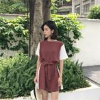 【新作10%off】retro solid color dress 2718