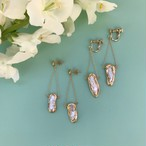 Baroque pearl chain pierce / earring