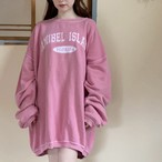 Over size pink sweatshirt