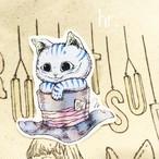 ステッカー チェシャ猫と帽子