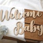 木製/レターバナー Welcome Baby [A]