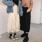 プリーツスカート おしゃれ 無地 春 秋 2色