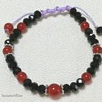 【ブレスレット】パワーストーン編紐ブレスレット-カーネリアン-(bracelet-012)