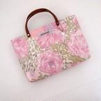 リバティ ミニトートバッグ ローズザンジー/ピンク ちょっとそこまで バッグインバッグにも
