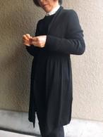 Monegal   モネガル       ショールカラーロングカーディガン  黒