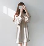 【秋冬新作】韓国トレンド Vネック ロングセーター ニットワンピース