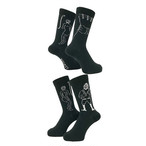 WHIMSY - 32/1 SHOWER ROOM SOCKS (Black)