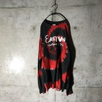[used] black × red mixed long T-shirt