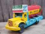 wooden oil tanker toy made in Nepal