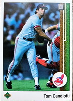 MLBカード 89UPPERDECK Tom Candiotti #470 INDIANS
