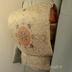 正絹 アイボリーに華文の袋帯
