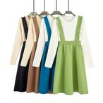 【dress】若見え重ね着風マルチカラー配色ワンピース 23711757
