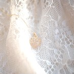 Sweet Heart 宝石質ローズクォーツ K18 ネックレス 42cmまで調整可 スライドボールつき