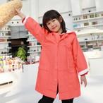 【予約商品】 【タイベック】 ダスターコート 子供用 蛍光レッド
