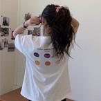 【送料無料】 バックプリントがかわいい♡ 大人可愛い カジュアル ガーリー 刺繍 ロゴ Tシャツ トップス