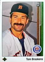 MLBカード 89UPPERDECK Tom Brookens #106 TIGERS