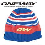 ONE WAY ワンウェイ キャップ ストライプ ニットハット スキー クロスカントリー ow705114-365