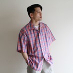 is-ness【 mens 】open collar shirts