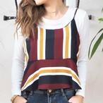 Stripe Bustier《WINE》