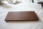 松下由典|木のトレー長方形(L) チーク材