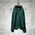 [used] green velor jacket