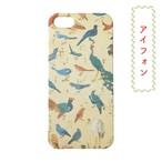 和柄レトロiPhoneケース「鳥づくし」