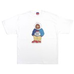 One Family Co. × 0867 × Champion / 7oz Heritage Jersey T-Shirt / Bear / White