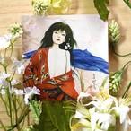 絵画 インテリア アートパネル 雑貨 壁掛け 置物 おしゃれ 和風アート 和 美人画 水彩画 染色画 アクリル画 ロココロ 画家 : 中島月下村 作品 : Doll - ryo2