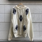 """OAKTON LIMITED"" 90's Vintage Design Cable Knit Sweater"