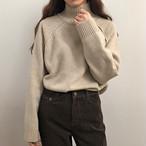 【tops】暖かい感じハイネック合わせやすいセーター25694239