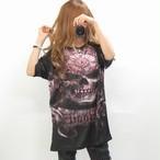 ユニセックス/SKULL BIG FACE/バックプリント/ユニセックス/海外インポートBIGTシャツ/限定