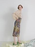 flower jacquard skirt