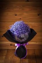 【プレゼントにぴったり】花束/カスミソウのブーケ(パープル)