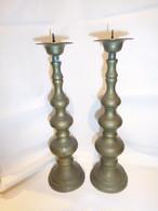 シンプル真鍮燭台ペア brass candlesticks