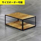 IRON FRAME LOW TABLE[OAK COLOR]サイズオーダー可