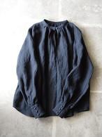313-C カフス袖のふんわりブラウス ブラック
