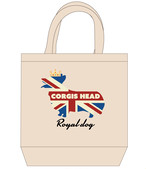No.2020-royaldog-tote0004  : ロイヤルドッグシリーズ ユニオンジャックコーギー王冠 トートバッグMサイズ