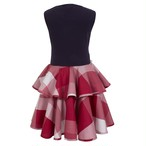 CIRCLE FRILL DRESS RED SAVANNA CHECK