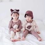 送料無料 8/7発売開始 【即納】063 秋色 パジャマ セットアップ 可愛い 男の子 女の子 パジャマ