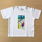 オールドTシャツ企画 江ノ島電鉄100周年記念看板アートTシャツ 湘南海岸公園駅 120サイズ