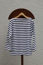 YAECA バスクシャツ ショート white border