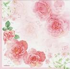 ペーパーナプキン ピンクのバラ