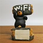 【超特価!!同梱してください】可愛いクマさん 熊 樹脂製 Wi-Fi ネームカードホルダー オブジェ 置物 インテリア ディスプレイ 名刺 ショップカード