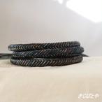 正絹 丸組の帯締め 青黒(あおぐろ)