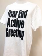 暮れの元気なTシャツ白×黒