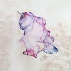 桜と空|染めオーガンジーのゆれる片耳ピアス