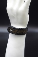 Item No.0300: Bracelet/Diamond Python《Hand-dyed Army Green》
